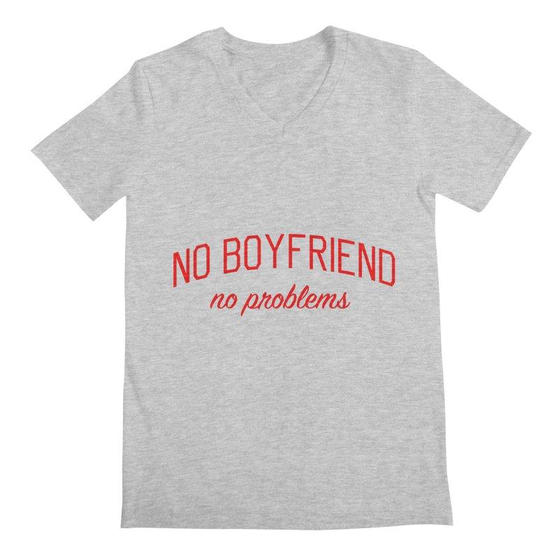 No Boyfriend No Problems - Single on Valentine's Day Men's Regular V-Neck by Bicks' Artist Shop