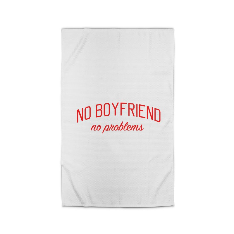 No Boyfriend No Problems - Single on Valentine's Day Home Rug by Bicks' Artist Shop