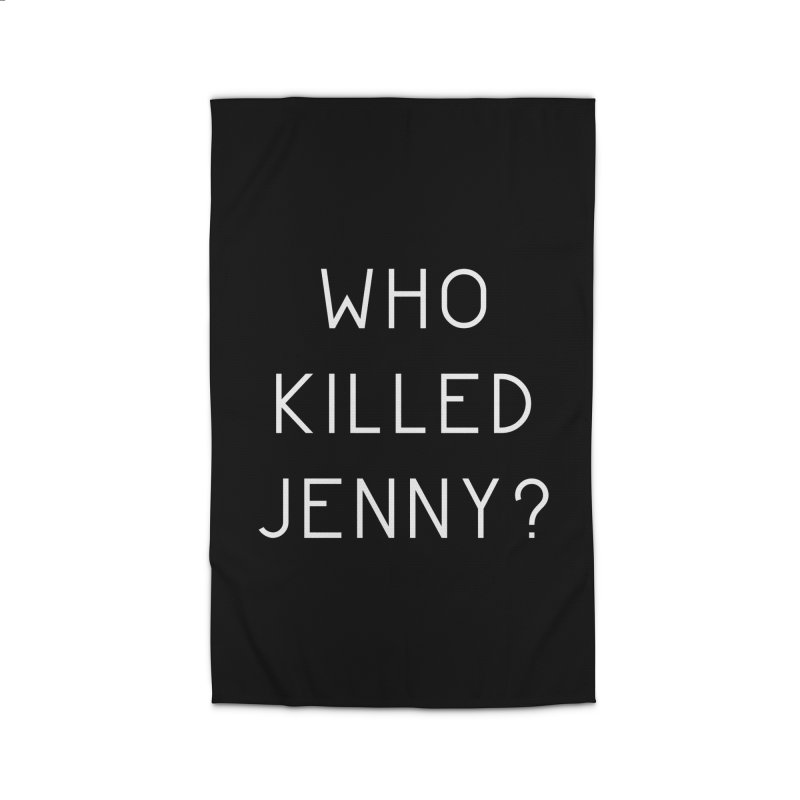 Who Killed Jenny Home Rug by Bicks' Artist Shop
