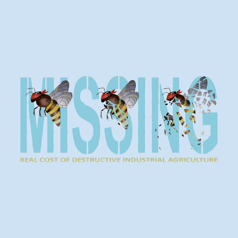 Missing bees blue   by bidule's Artist Shop