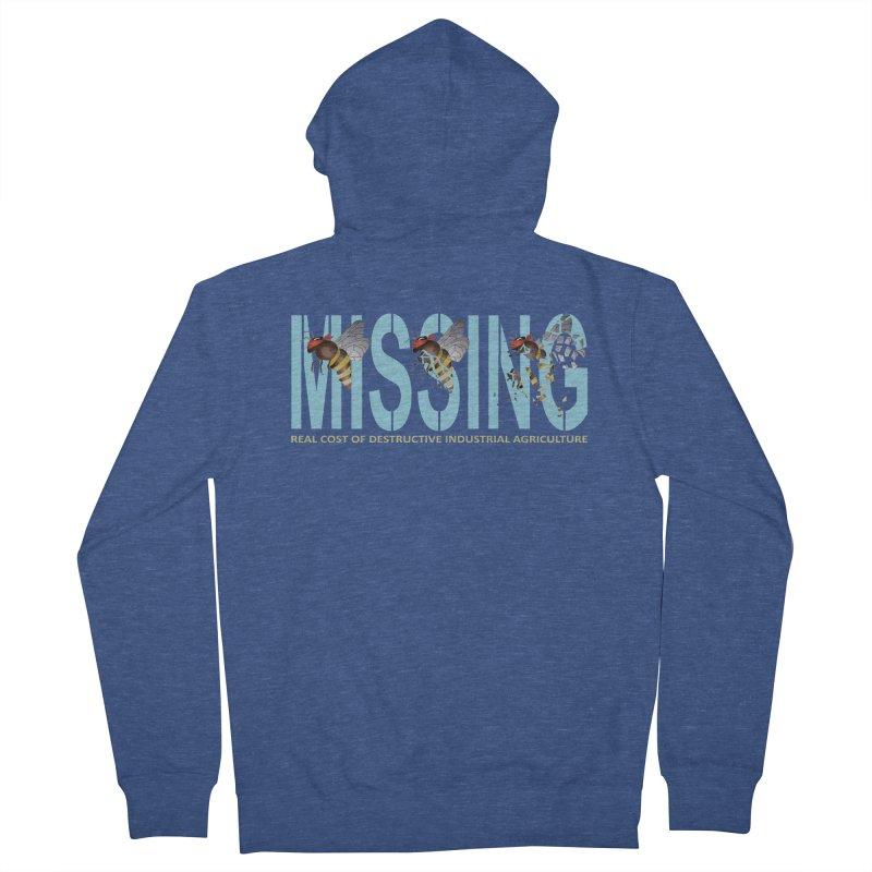 Missing bees blue Men's Zip-Up Hoody by bidule's Artist Shop