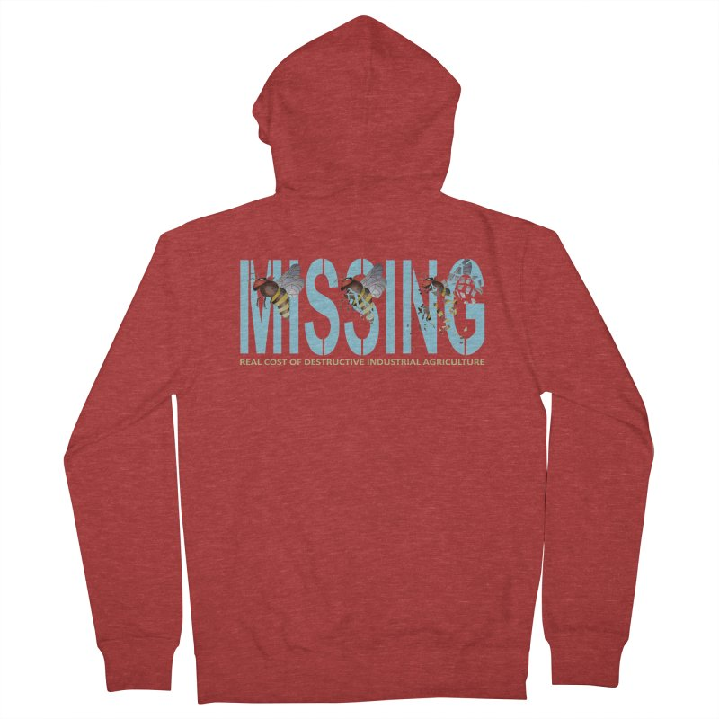 Missing bees blue Men's Zip-Up Hoody by bidule's Artist Shop