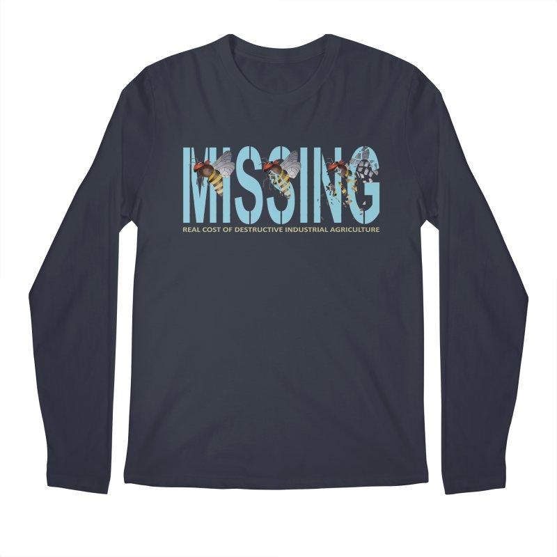 Missing bees blue Men's Longsleeve T-Shirt by bidule's Artist Shop