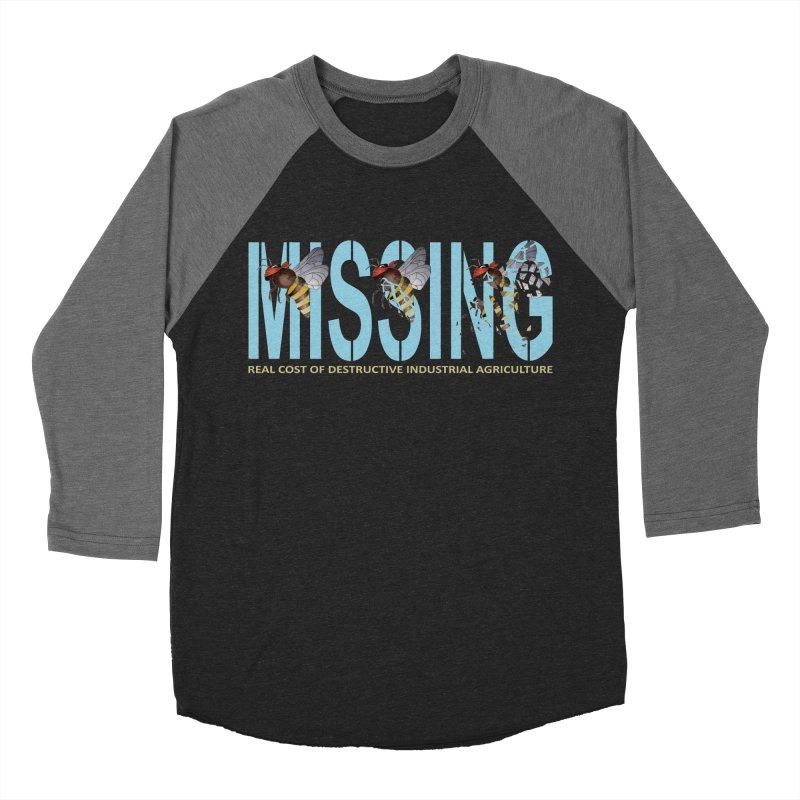 Missing bees blue Women's Baseball Triblend T-Shirt by bidule's Artist Shop