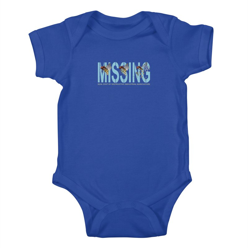 Missing bees blue Kids Baby Bodysuit by bidule's Artist Shop