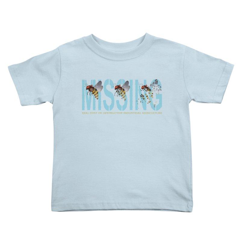 Missing bees blue Kids Toddler T-Shirt by bidule's Artist Shop