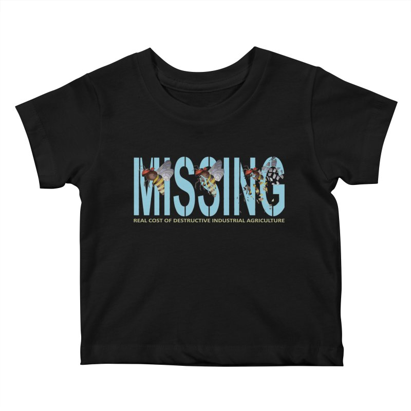 Missing bees blue Kids Baby T-Shirt by bidule's Artist Shop