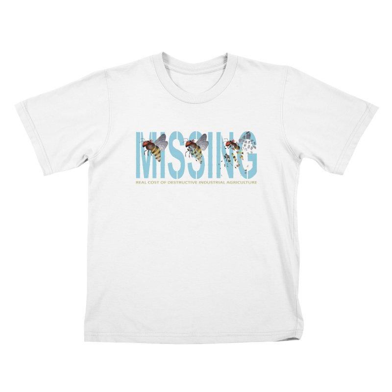 Missing bees blue Kids T-Shirt by bidule's Artist Shop
