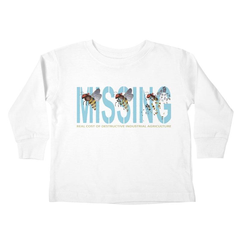 Missing bees blue Kids Toddler Longsleeve T-Shirt by bidule's Artist Shop