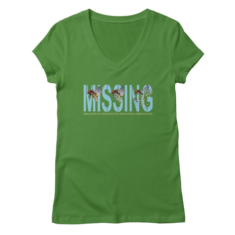 Missing bees blue Women's V-Neck by bidule's Artist Shop