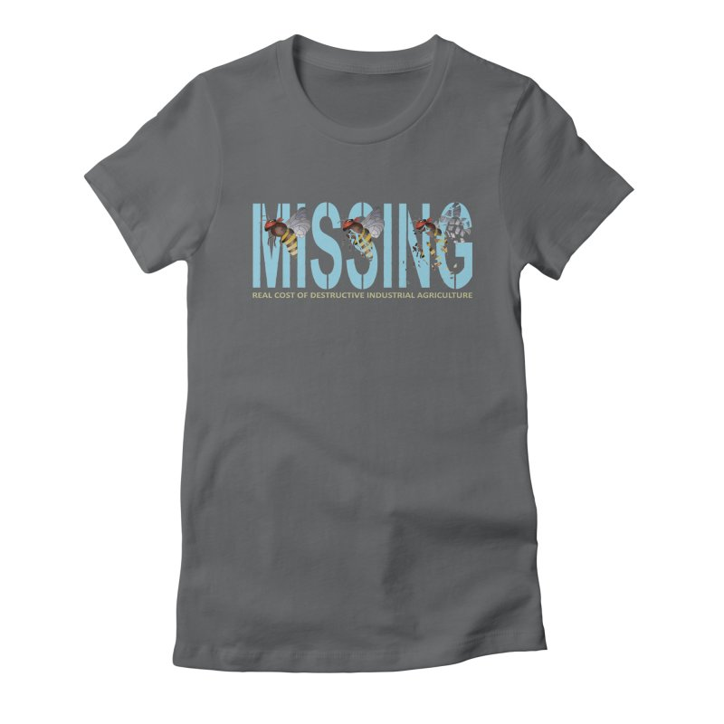 Missing bees blue Women's Fitted T-Shirt by bidule's Artist Shop