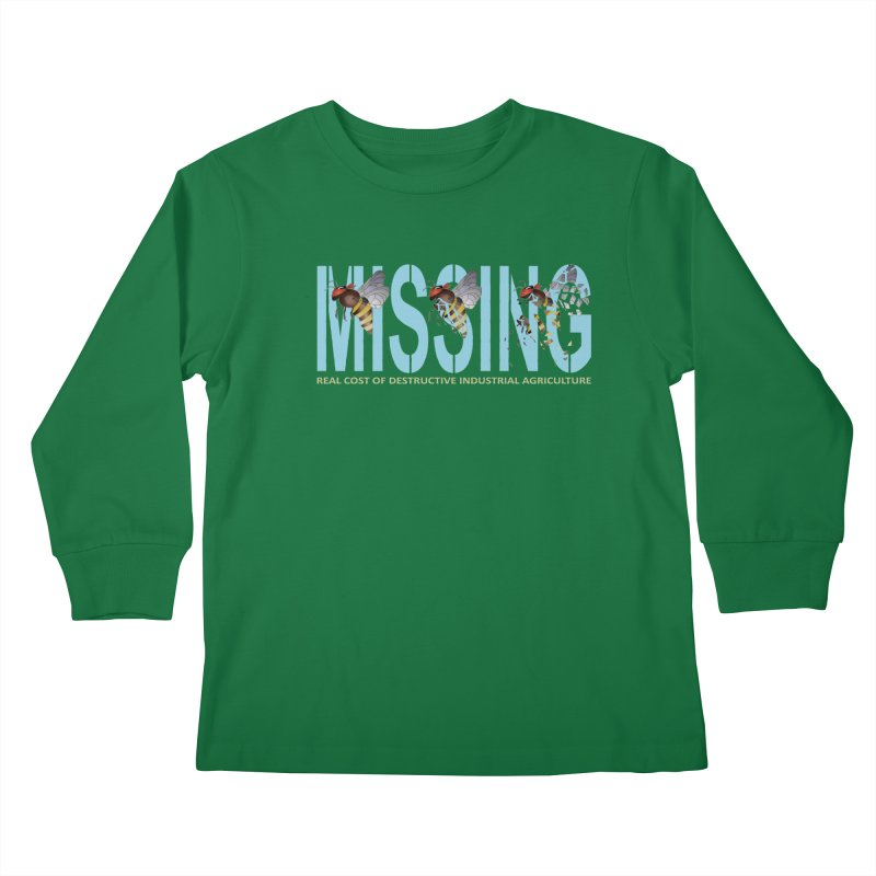 Missing bees blue Kids Longsleeve T-Shirt by bidule's Artist Shop
