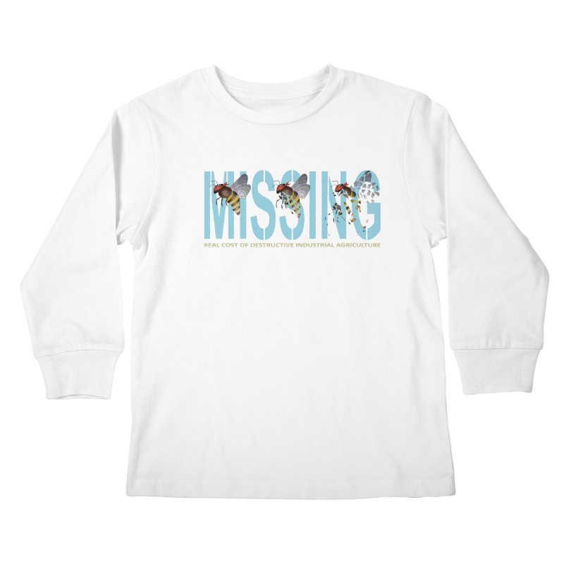 Missing bees blue Kids Longsleeve T-Shirt by bidule's Artist Shop