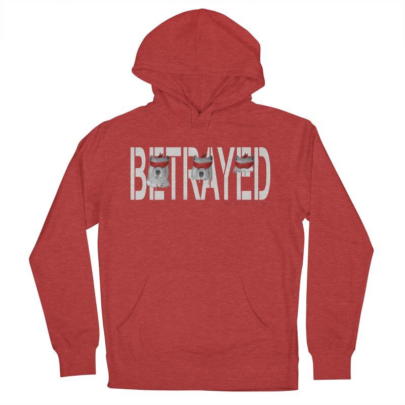 Betrayed bear white Men's Pullover Hoody by bidule's Artist Shop