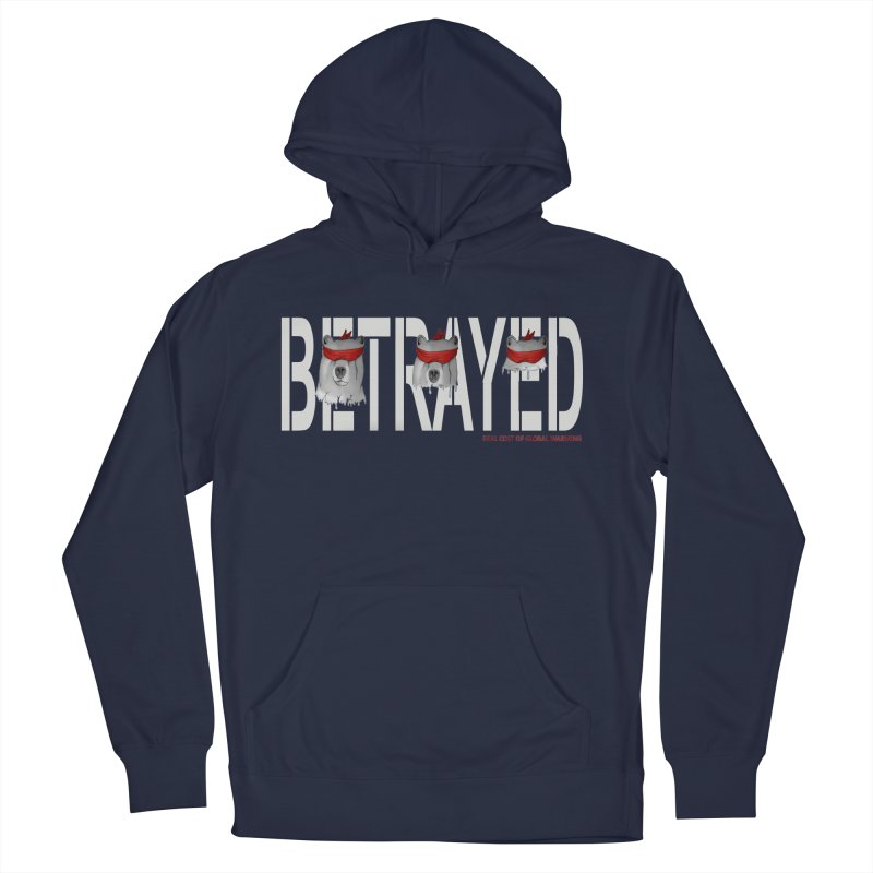 Betrayed bear white Men's Pullover Hoody by bidule's Artist Shop