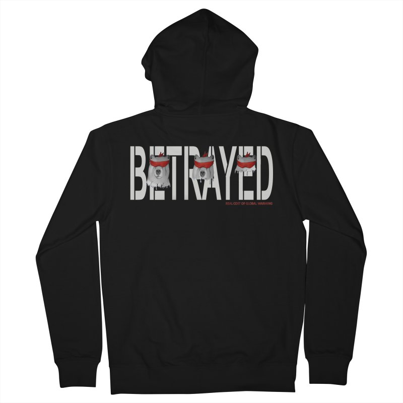 Betrayed bear white Men's Zip-Up Hoody by bidule's Artist Shop