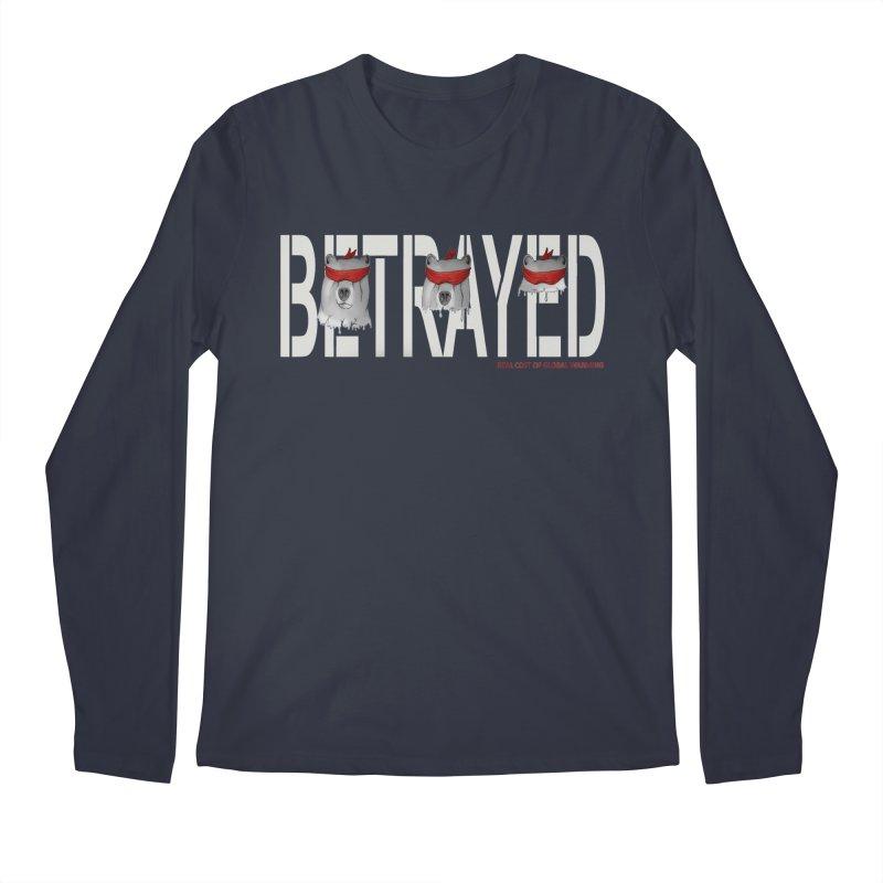 Betrayed bear white Men's Longsleeve T-Shirt by bidule's Artist Shop