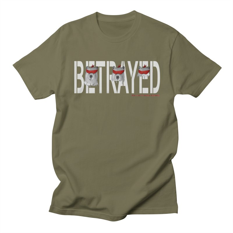 Betrayed bear white Men's T-shirt by bidule's Artist Shop