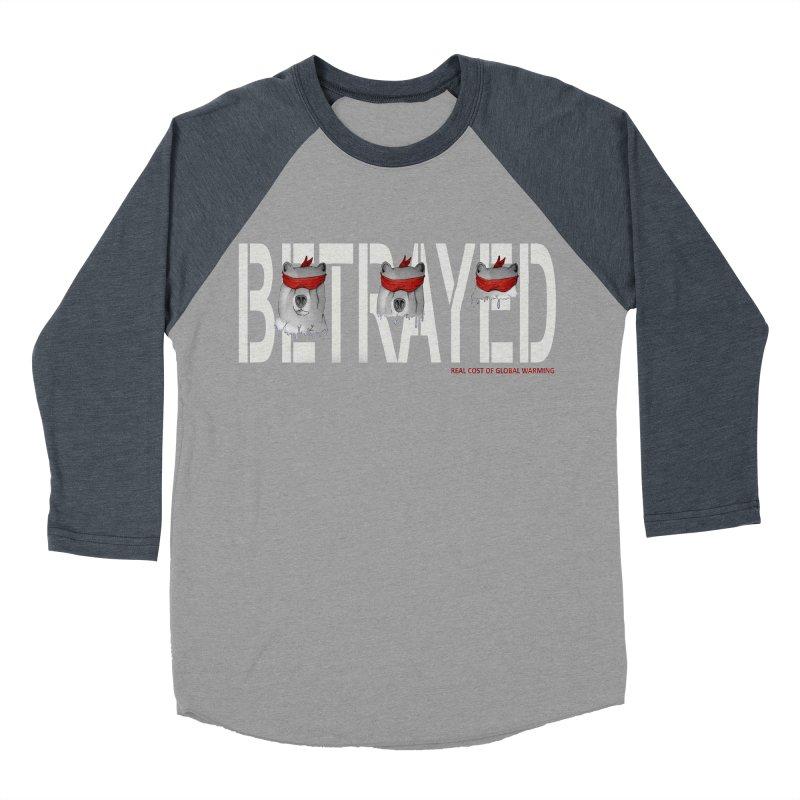 Betrayed bear white Men's Baseball Triblend T-Shirt by bidule's Artist Shop