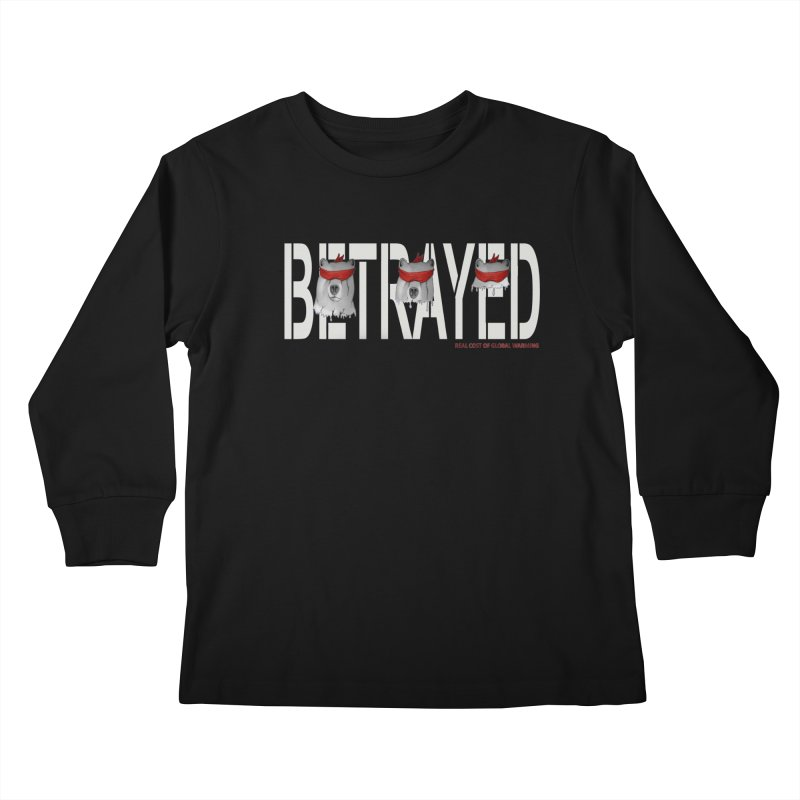 Betrayed bear white Kids Longsleeve T-Shirt by bidule's Artist Shop