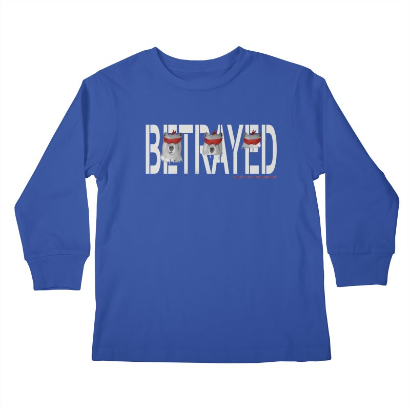 Betrayed bear white Kids Longsleeve T-Shirt by bidule's Artist Shop