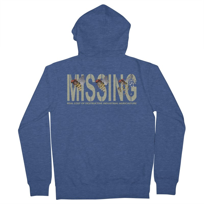 Missing bees Women's Zip-Up Hoody by bidule's Artist Shop