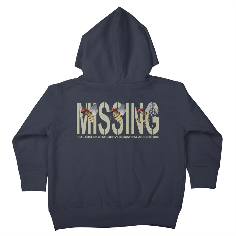 Missing bees Kids Toddler Zip-Up Hoody by bidule's Artist Shop