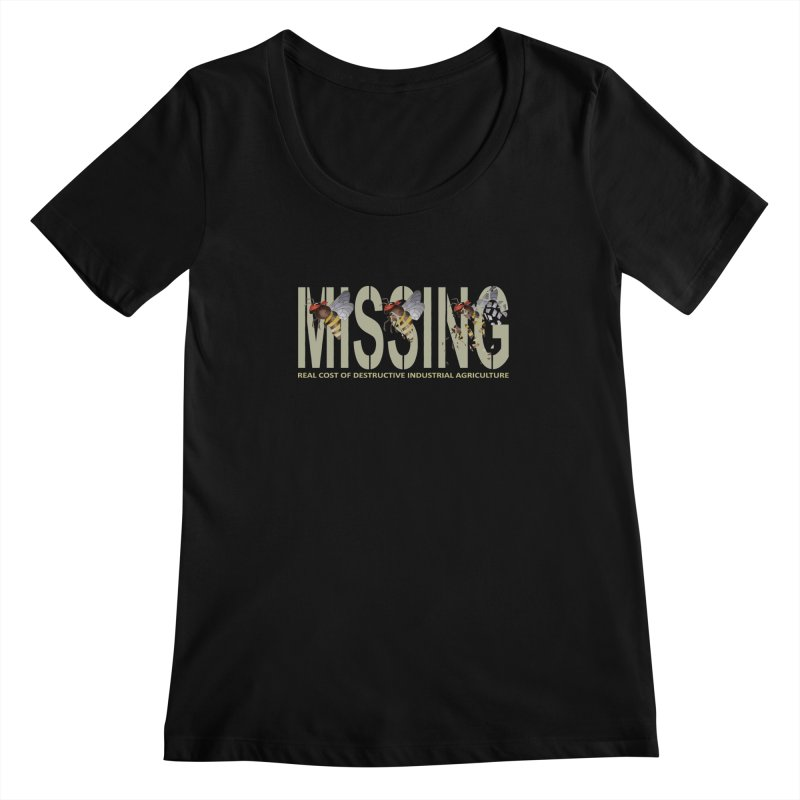 Missing bees Women's Scoopneck by bidule's Artist Shop