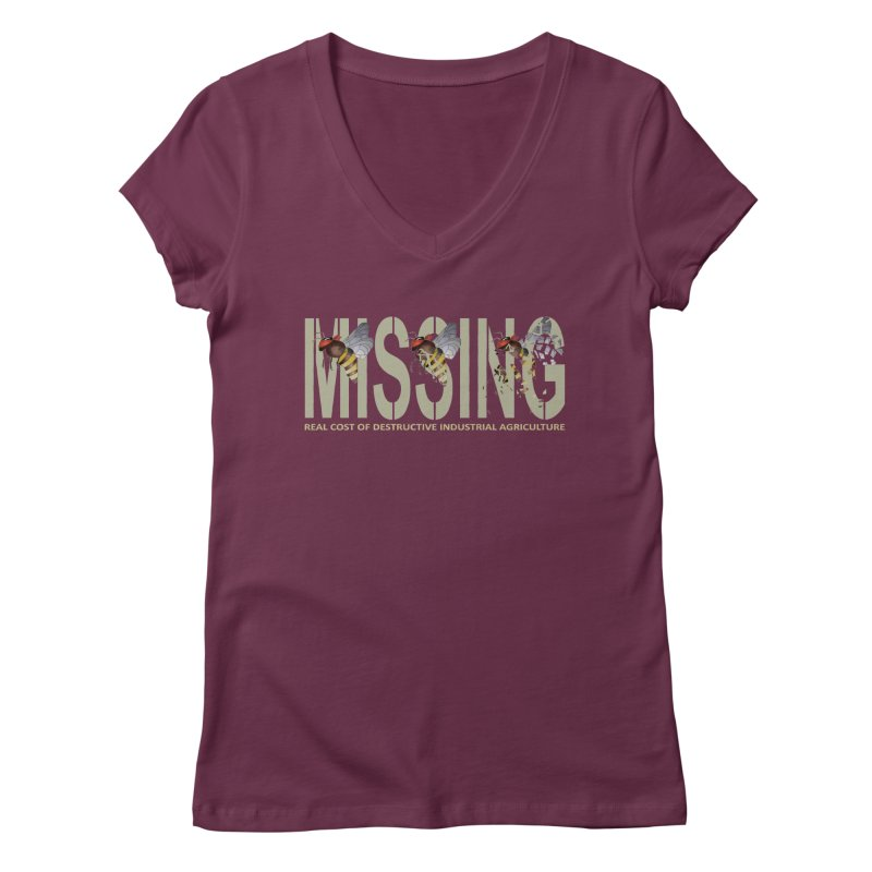 Missing bees Women's V-Neck by bidule's Artist Shop