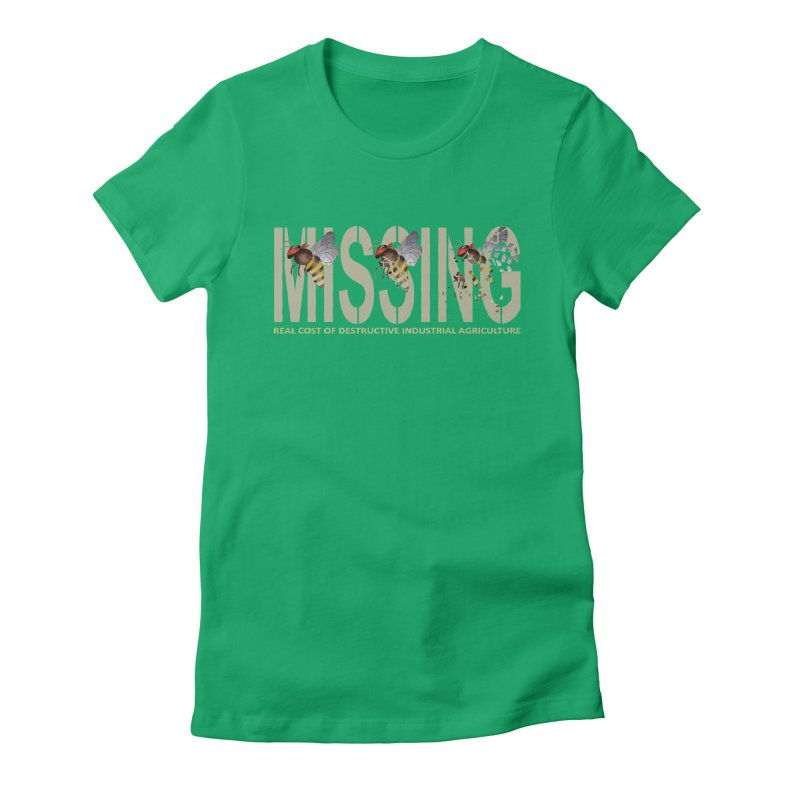 Missing bees Women's Fitted T-Shirt by bidule's Artist Shop