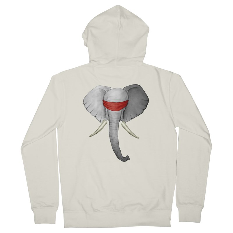 Elephant Men's Zip-Up Hoody by bidule's Artist Shop