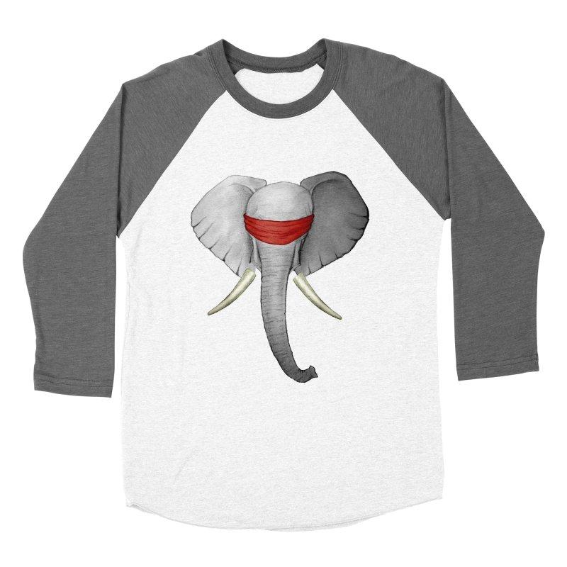 Elephant Women's Baseball Triblend T-Shirt by bidule's Artist Shop
