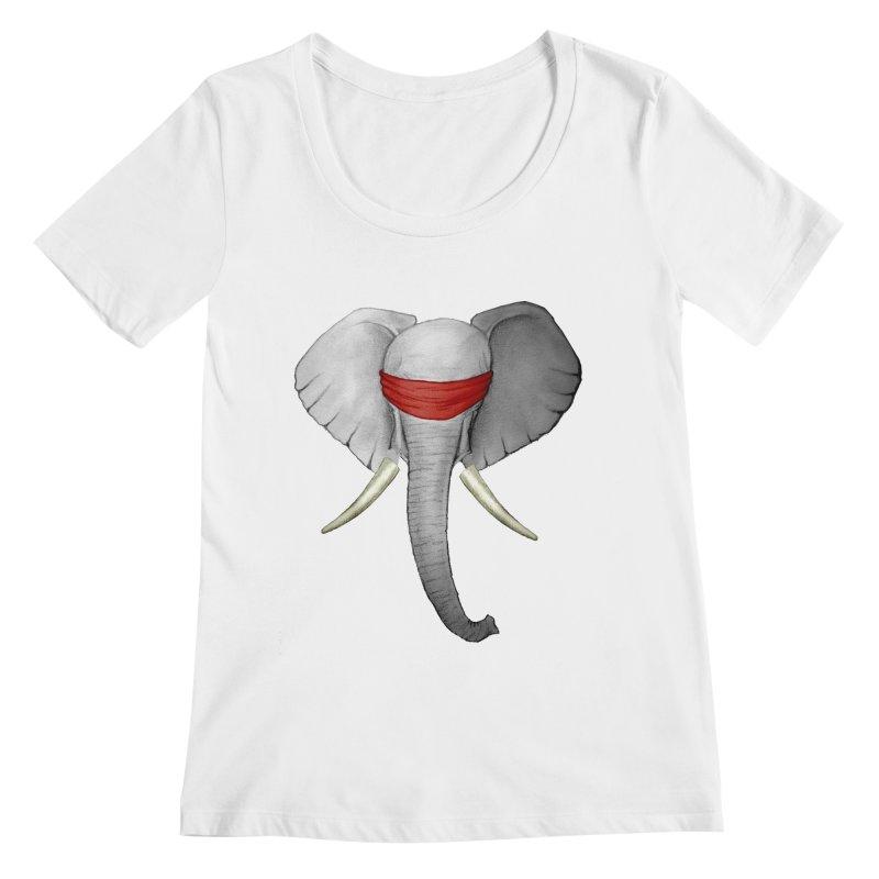 Elephant Women's Scoopneck by bidule's Artist Shop