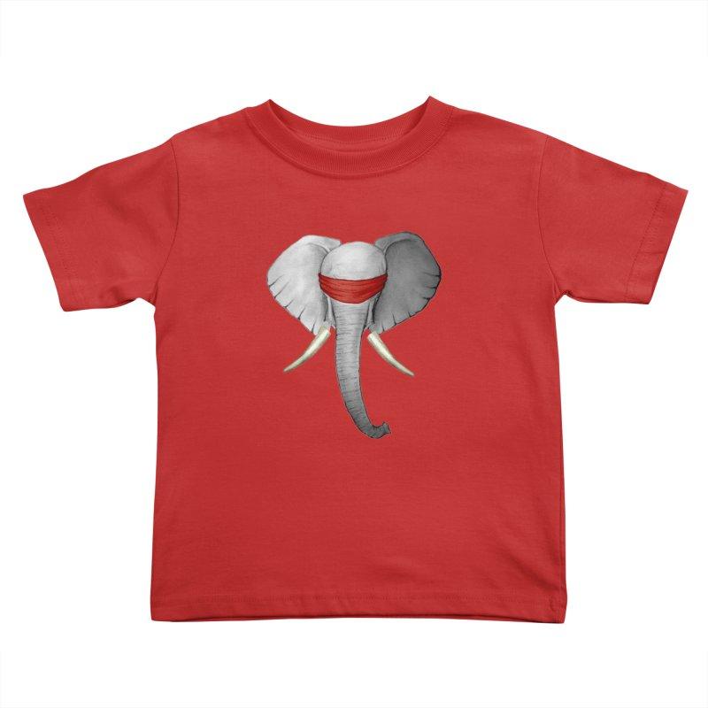 Elephant Kids Toddler T-Shirt by bidule's Artist Shop