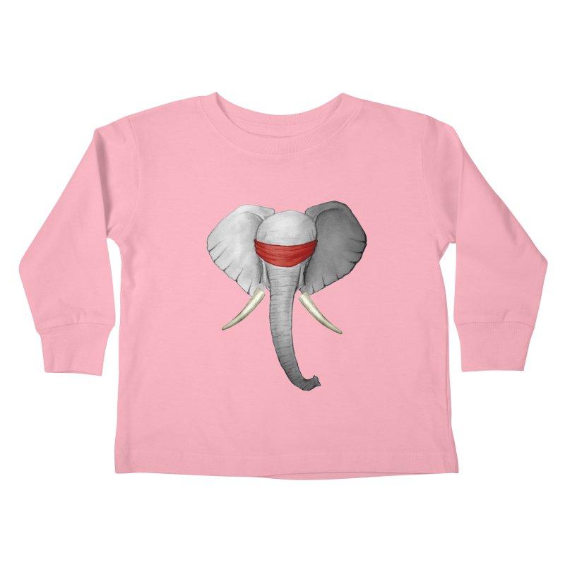 Elephant Kids Toddler Longsleeve T-Shirt by bidule's Artist Shop