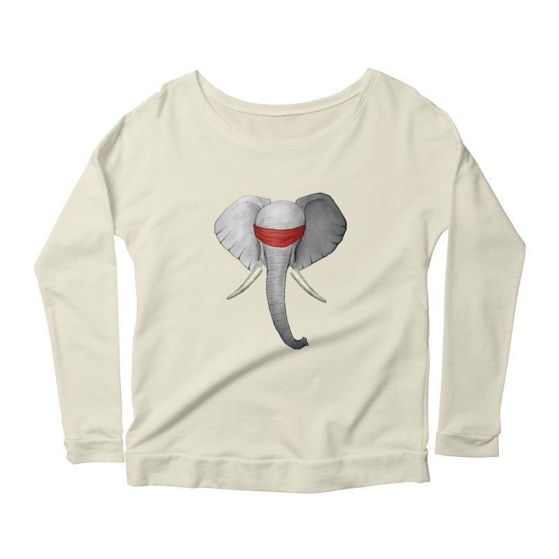 Elephant Women's Longsleeve Scoopneck  by bidule's Artist Shop
