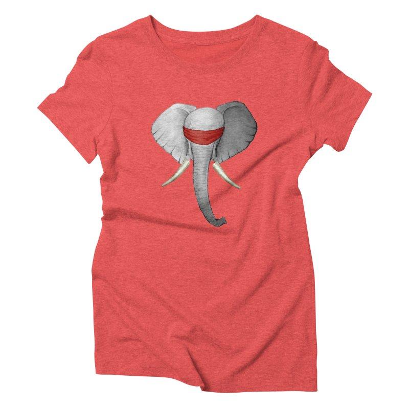 Elephant Women's Triblend T-shirt by bidule's Artist Shop