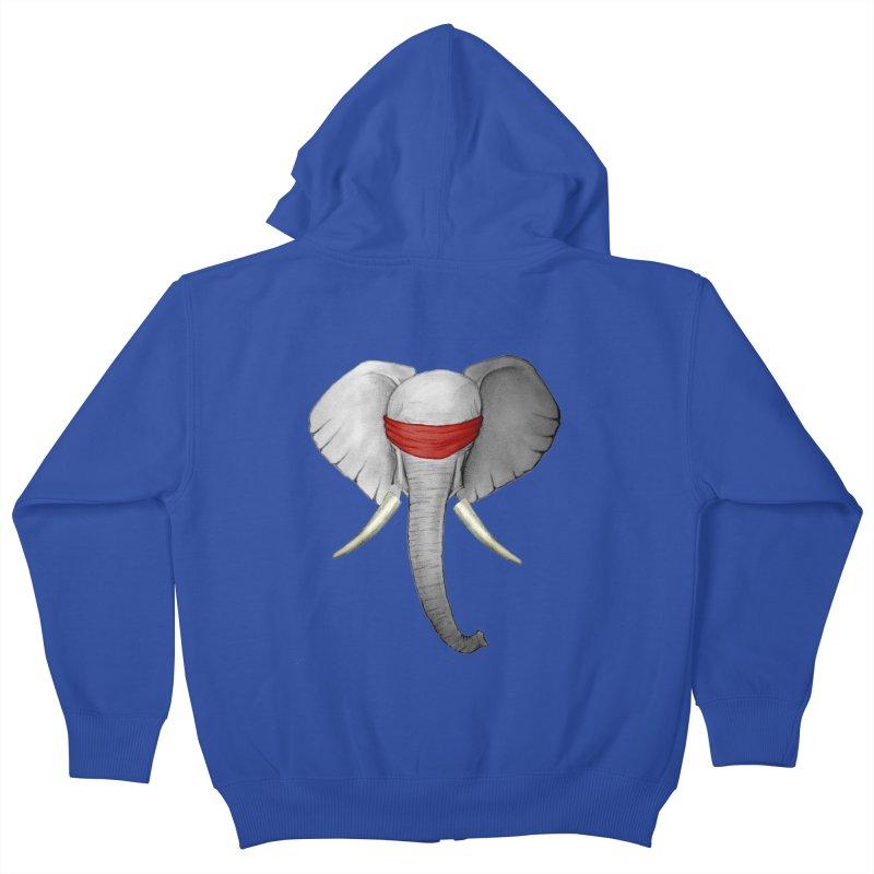 Elephant Kids Zip-Up Hoody by bidule's Artist Shop