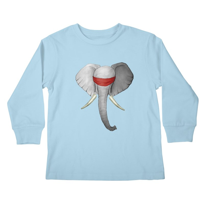 Elephant Kids Longsleeve T-Shirt by bidule's Artist Shop