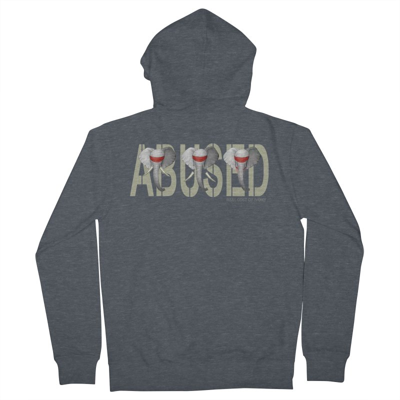 Abused elephant Women's Zip-Up Hoody by bidule's Artist Shop