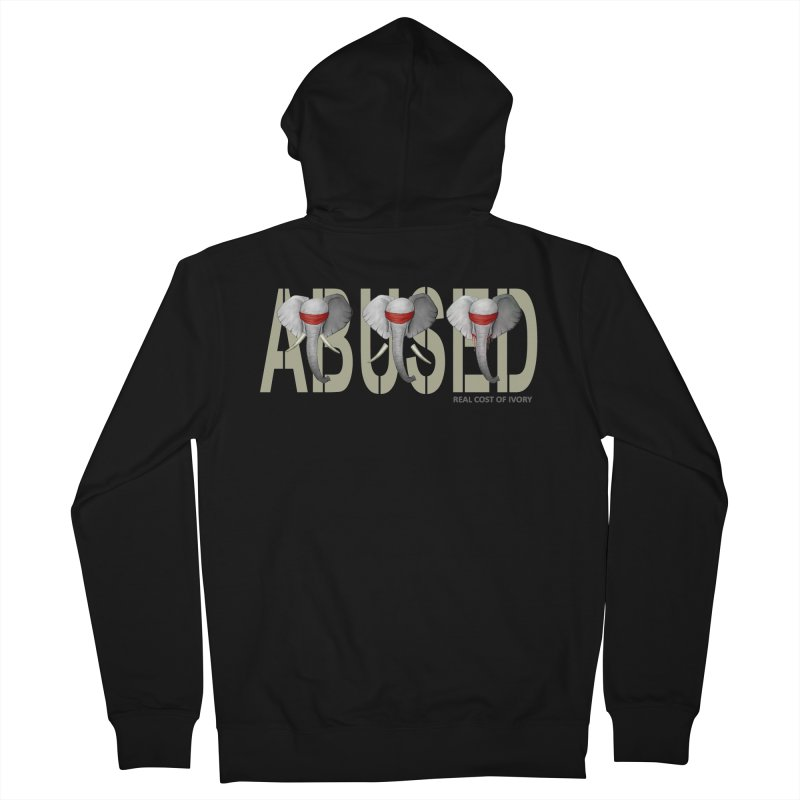 Abused elephant Men's Zip-Up Hoody by bidule's Artist Shop