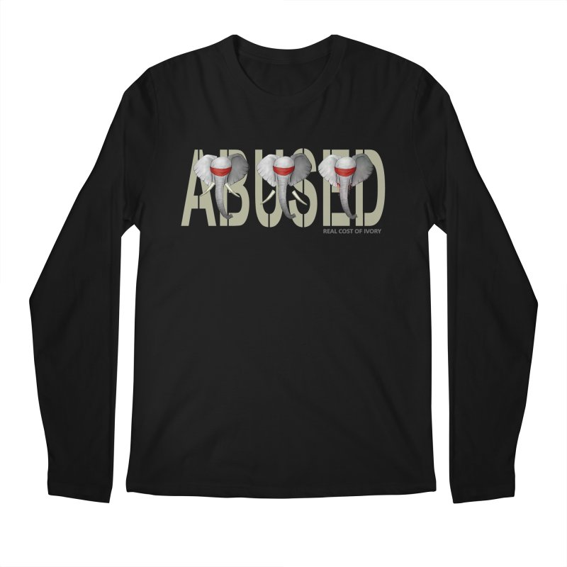 Abused elephant Men's Longsleeve T-Shirt by bidule's Artist Shop