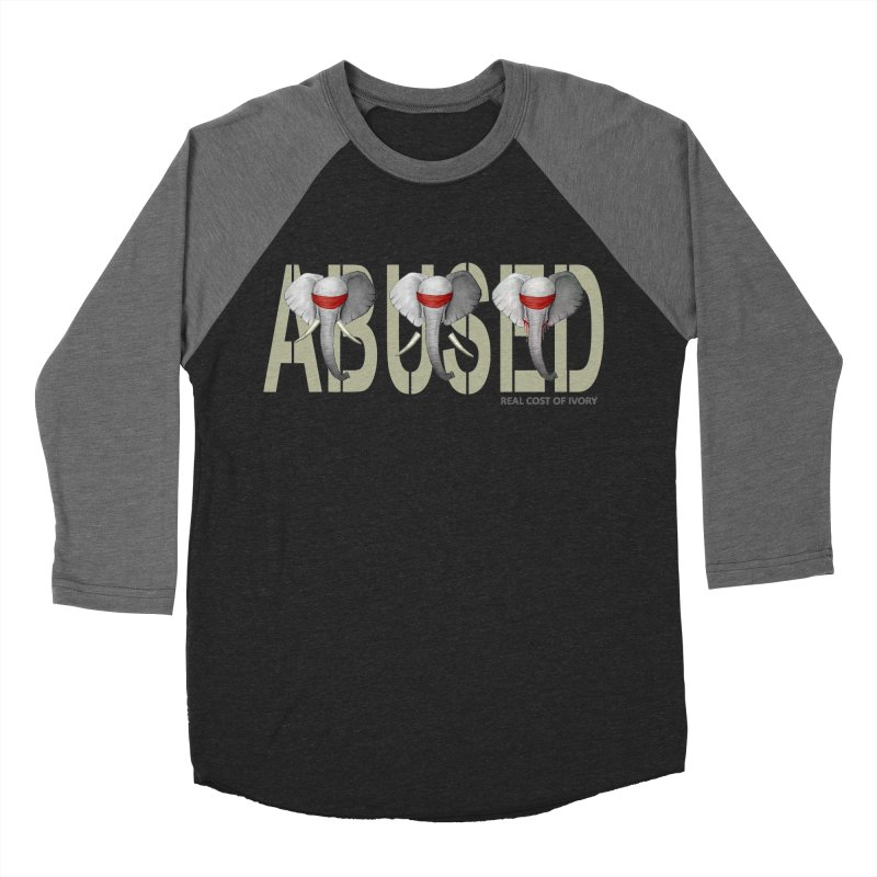 Abused elephant Men's Baseball Triblend T-Shirt by bidule's Artist Shop