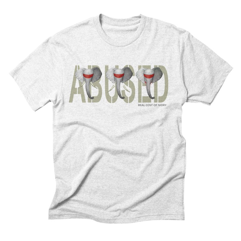 Abused elephant Men's Triblend T-shirt by bidule's Artist Shop