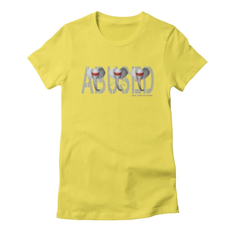 Abused elephant Women's Fitted T-Shirt by bidule's Artist Shop