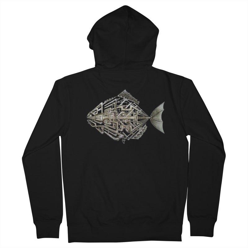 bio fish Men's Zip-Up Hoody by bidule's Artist Shop