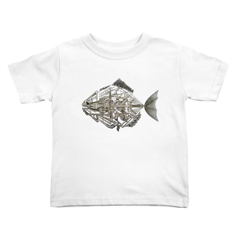 bio fish Kids Toddler T-Shirt by bidule's Artist Shop