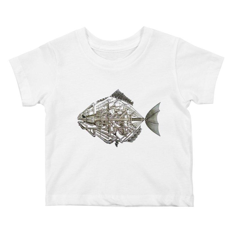 bio fish Kids Baby T-Shirt by bidule's Artist Shop