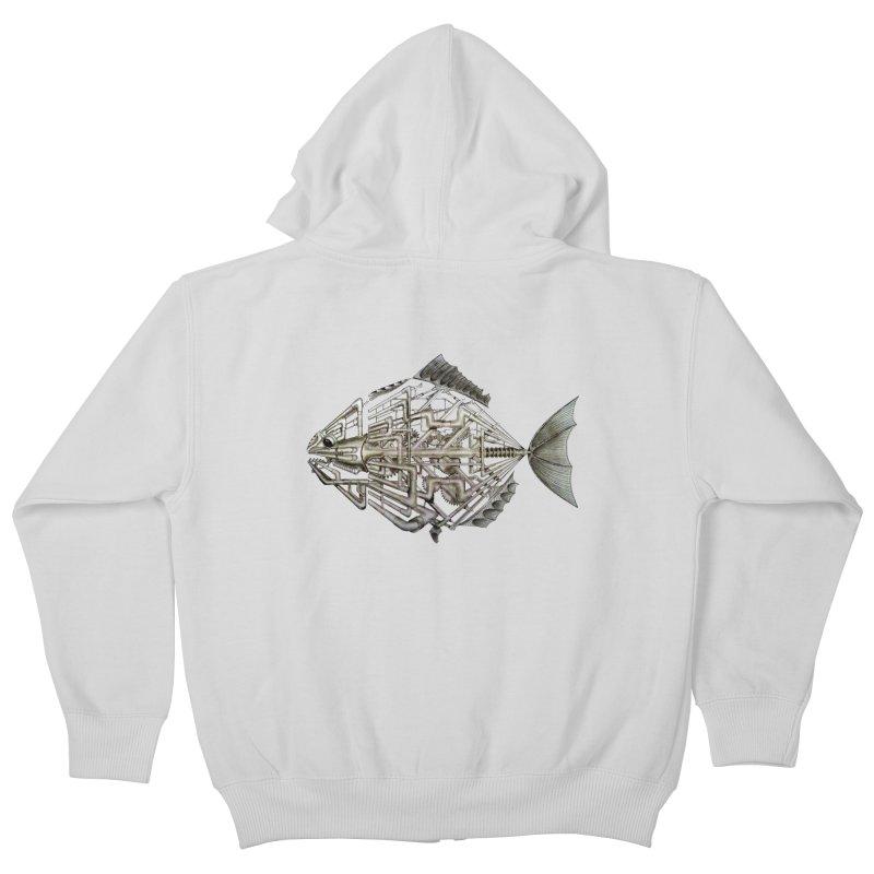 bio fish Kids Zip-Up Hoody by bidule's Artist Shop