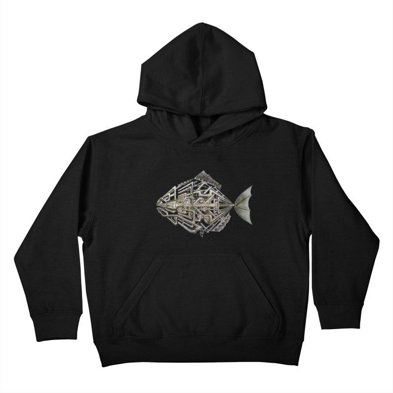 bio fish Kids Pullover Hoody by bidule's Artist Shop